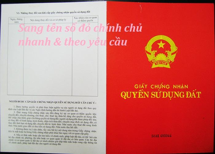 Dịch vụ sang tên sổ đỏ tại Nghệ An